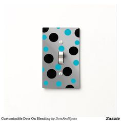 Customizable Dots On Blending Light Switch Covers