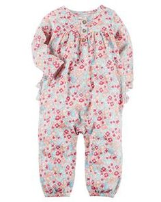 0b20571aa Baby Girl One-Piece Jumpsuits & Bodysuits   Carter's   Free Shipping