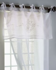 Pom Pom at Home Each Classica Curtain in White - Neiman Marcus