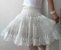 Купить Ананасовая юбочка. - юбка, Вязание крючком, юбка крючком, ажурная юбка, ажур, ананасы