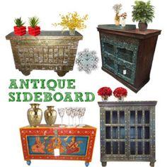 Antique Furniture: ANTIQUE CARVED CHEST STORAGE CABINET