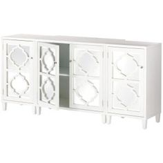 Add contemporary elegance to your home with this Home Decorators Collection Reflections White Storage Cabinet. White Sofa Table, Gray Console Table, Console Table Styling, Entryway Cabinet, Cabinet Decor, Filing Cabinet, Entry Hallway, Cabinet Ideas, Sideboard Decor