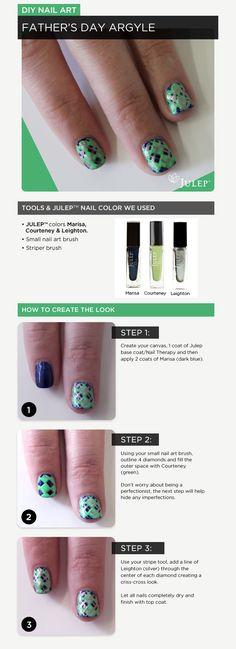 NOTD: Father's Day Argyle #nails #nailart #DIY