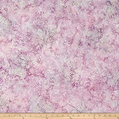Wilmington Batiks Hearts and Ferns Light Purple from @fabricdotcom  Designed by Wilmington Fabrics this cotton Batik fabric is perfect for apparel, quilting and home decor accents. Colors include shades of light purple and pink.