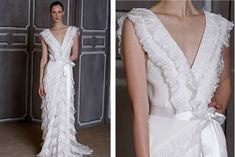 omg!  Incredible carolina herrera wedding dress!
