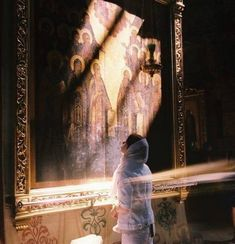 Russian Orthodox church by Anastasia Belikow Orthodox Prayers, Orthodox Christianity, Holy Art, John Chrysostom, Religion, Orthodox Icons, Roman Catholic, Catholic Veil, Kirchen