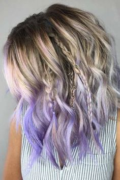 Want to dress up the tips of your hair with a bold color contrast? Our dip dye hair guide shows you how to get the trendy look using Manic Panic products. Medium Hair Braids, Medium Hair Styles, Curly Hair Styles, Hair Medium, Beach Waves For Short Hair, Short Wavy Hair, Short Dip Dye Hair, Short Ombre, Short Prom Hair
