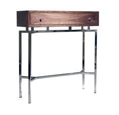 Shop our MING WALNUT CONSOLE TABLE for the ultimate combination of modern style, practical design and durability that stand the test of time. Hamptons Living Room, Living Room Decor, Living Rooms, Metal Furniture, Modern Furniture, Console Table Styling, Console Tables, Mitchell Gold, Modern Dresser