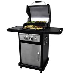 Stainless Steel Barbecue Gas Grill 2 Burner Cabinet Outdoor Grilling Deck Patio  #DynaGlo#GasBarbeque