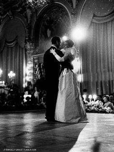 Graceand David Niven at the Opera of Monte Carlo; 1960.