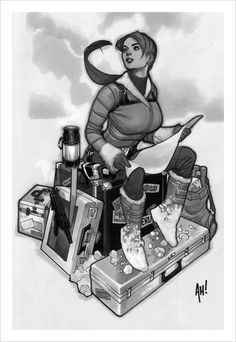 Lara Croft, Tomb Raider by artist Adam Hughes. Adam Hughes, Comic Book Artists, Comic Artist, Comic Books Art, Copic, Reference Manga, Frank Cho, Tomb Raider Lara Croft, Friend Book