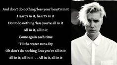 Justin Bieber - All In It (Lyrics) - YouTube