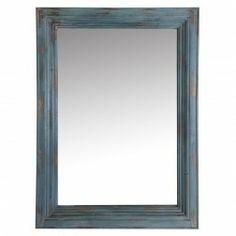 Espejo Vintage madera decoración azul 110 cm en Nuryba.com tu tienda de muebles y decoracion online