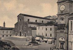 Faenza Cattedrale e Piazza della Libertà non viaggiata  animata C175