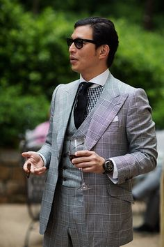 """heinfienbrot: """" Wei Koh in a three-piece-suit by Edward Sexton. """""""