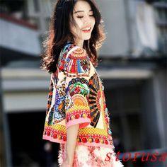 New-Women-Fashion-Spring-Coat-Single-Breasted-Retro-Chic-Jacket-Girls-BOHO-Style