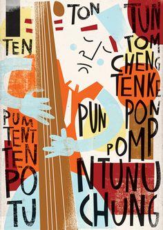 Dreamed Jazz by Lau Giraudo, via Behance