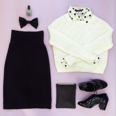 A classic and cute black & white look from American Apparel.