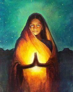 The mystical, fantastical, spiritual art of Annelie Solis. Paintings & other creations. Sacred Feminine, Divine Feminine, Energie Positive, Mystique, Visionary Art, Beautiful Love, Indian Art, Deities, Awakening