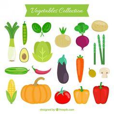 Colección de verduras Vector Premium