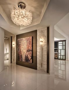 Contemporary Home Photos: Find Contemporary Homes and Contemporary Decor Online INTERESTING USE OF TILE AND LIGHTS FOR A FOYER