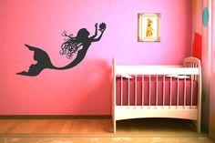 Under The Sea Mermaid Wall Decal Baby Girl Art Decor Nursery Wall Sticker Gift Ideas Vinyl Lettering #17