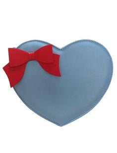 Sweet Bow Heart Shaped PU Leather Lolita Bag