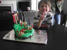 Gideon's 6th bday Lego Ninjago cake