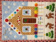 A small wall hanging from the Houston Quilt show.