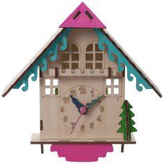 I Love Retro Diy Cuckoo Clock (€32) ❤ liked on Polyvore featuring home, home decor, clocks, retro clock and retro home decor