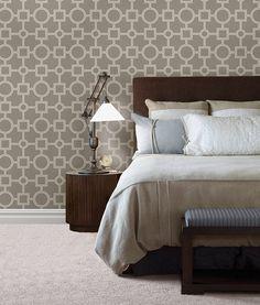 BHF 2625-21810 Matrix Geometric Wallpaper - Taupe: Amazon.co.uk: DIY & Tools