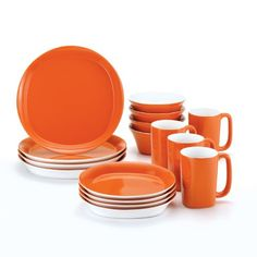 Rachael Ray Dinnerware Round and Square 16-Piece Dinnerware Set, Orange Rachael Ray http://www.amazon.com/dp/B005GPMQKQ/ref=cm_sw_r_pi_dp_VkX6tb0KDHWYE