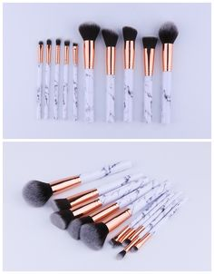10pcs marble makeup brush