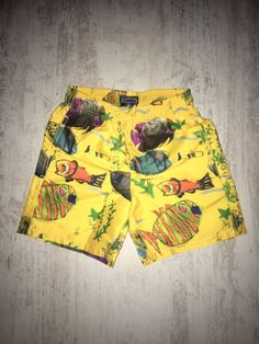 720778185d New Boy Vilebrequin Swimwear Shorts Moorea Printed Moon Fishes Size 4, 6, 8  ANS