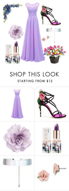 """""""flowers"""" by eshalieva ❤ liked on Polyvore featuring beauty, Dolce&Gabbana, Cara, Teeez, Accessorize, 1928 and Improvements"""