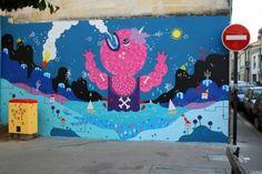Sur les murs du quartier Saint-Nicolas et dans la rue Brun - Bordeaux 2013