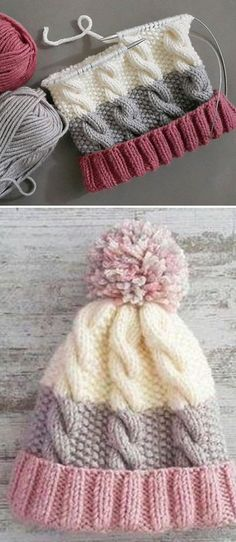 Cozy Cable Knit Hat - Free Pattern knitting for beginners knitting ideas knitting patterns knitting projects knitting sweater Knitting Blogs, Knitting Stitches, Free Knitting, Beginner Knitting, Simple Knitting Projects, Loom Knitting, Cable Knit Hat, Cozy Knit, Quick Knits