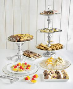 Pittsburgh wedding must-have: the cookie table. Shown here: selections from Bella Dolci Cookies, Mediterra Bakehouse, & Rania's Catering. Tableware from All Occasions Party Rental.
