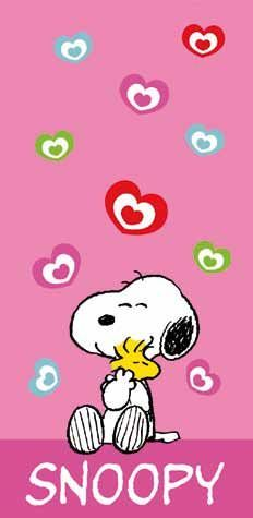 SNOOPY with Woodstock - Love ~ Pinned by Nathalie Gobbe