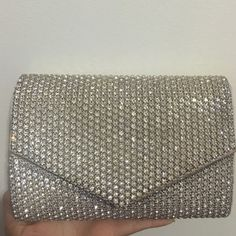 Rhinestone clutch Crystal rhinestone clutch purse with strap. From Aldo's. I've only used it once for prom. ALDO Bags Clutches & Wristlets