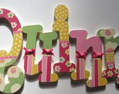 Hand Painted Nursery Letters- Completely Custom Collection