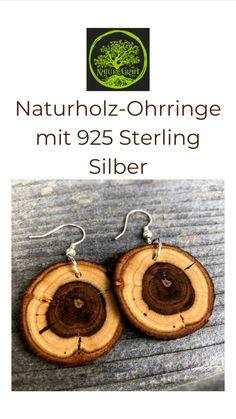 Wood Slices, Jewelery, Brooch, Wreaths, Projects, Ear Piercings, Silver, Jewlery, Log Projects