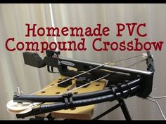 How to make homemade PVC compound crossbow - YouTube