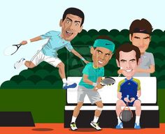 The Big 4 of Men's Tennis ~ Djokovic, Nadal, Murray & Federer