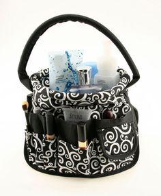 Neatnix Round Stuff Bucket Black Swirl | FREE SHIPPING - good to take to salon when I do makeup
