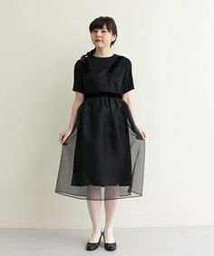 オーガンジーエプロンドレス(ワンピース) I am I in fact...(アイアムアイ インファクト)のファッション通販 - ZOZOTOWN