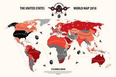 World maps, according to...