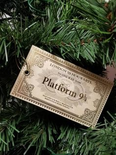 Harry Potter Inspired Platform Ticket Christmas ornament Makes a great gift! READY TO SHIP replica train Harry Potter Christmas Decorations, Harry Potter Ornaments, Harry Potter Christmas Tree, Hogwarts Christmas, Christmas Tree Decorations, Christmas Tree Ornaments, Christmas Ideas, Ornament Tree, Magical Christmas