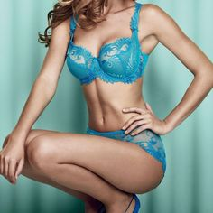 An essential, gorgeous, and ultra feminine set with a subtle, light and airy blend of embroidery and lace that accentuates every woman's cleavage to perfection.  Welcome Thalia!
