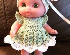 Crochet pattern for Mini Lil Cutesie Berenguer 5 inch doll
